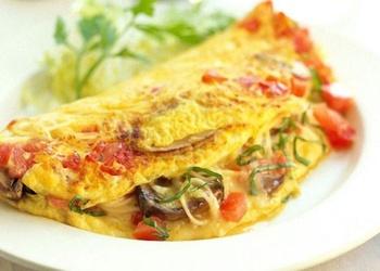 Sēņu un puravu omlete