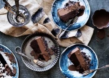 Šokolādes torte ar apelsīnu krēmu