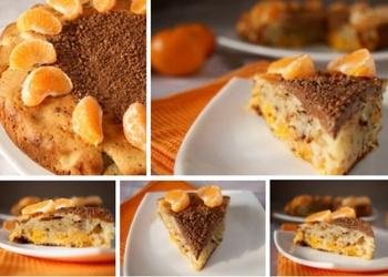 Mandarīnu pīrāgs ar šokolādi