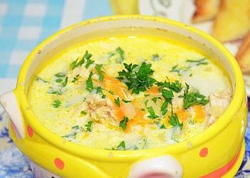 Diētiskā siera zupa