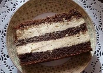 Šokolādes kūka ar kafijas krēmu