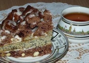 Šokolādes – magoņu kūka ar skābo krējumu