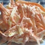 Burkānu salāti ar sieru un ķiplokiem