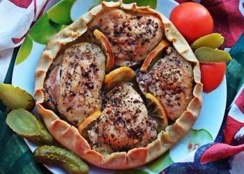 Cepta vistas gaļa ēdamā mīklas trauciņā
