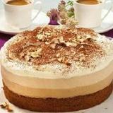 Lazdu riekstu – kafijas krēma kūka