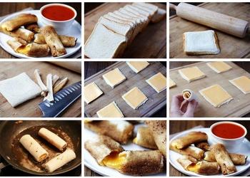 Cepti maizes rullīši ar sieru