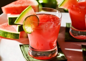 Biezais arbūza kokteilis