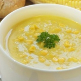 Vistas filejas zupa ar kukurūzas putraimiem