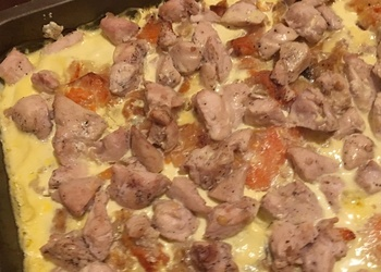Krāsnī cepts ķirbis ar vistas fileju