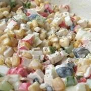 Garšīgie krabju nūjiņu salāti