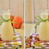Piena kokteilis ar āboliem un riekstiem