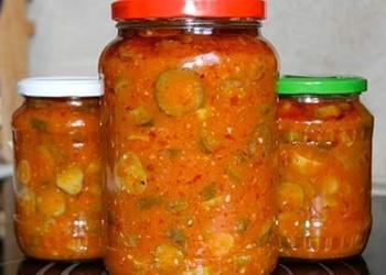 Gurķu salāti tomātu mērcē