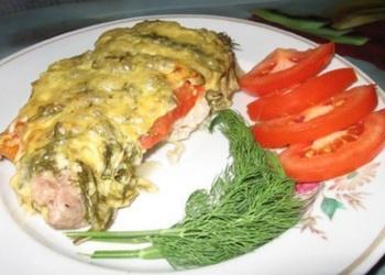 Cūkgaļa siera - tomātu kažokā