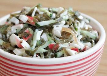 Jūras kāpostu un olu salāti