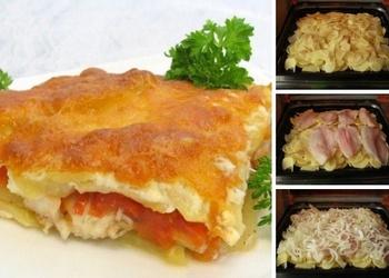 Kartupeļu un zivs sacepums ar sieru