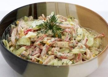 Olu salāti ar šķiņķi