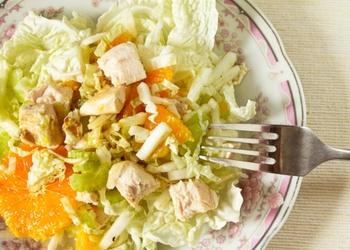 Vistas filejas salāti ar apelsīniem