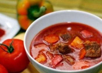 Gulaša zupa ar šampinjoniem