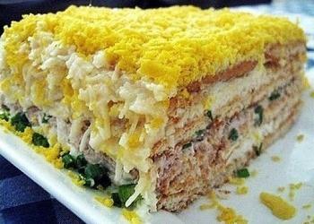 Zivju torte-salāti