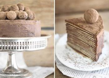 Šokolādes pankūku torte ar Amaretto