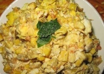 Vistas filejas salāti ar kukurūzu un sēnēm