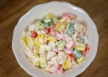 Vistas gaļas un dārzeņu salāti