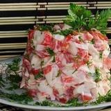"""Krabju salāti """"Sarkanā jūra"""""""