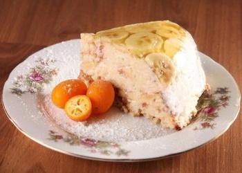 Želejas torte ar apelsīniem un banāniem