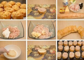 Krāsnī ceptas maizītes ar vistas gaļu