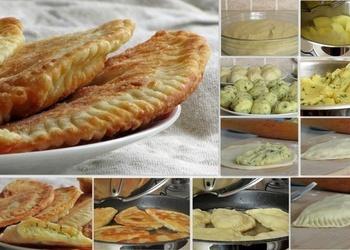 Čebureki ar kartupeļiem un sieru