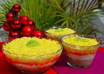 Konservētas zivs salāti ar dārzeņiem un olu