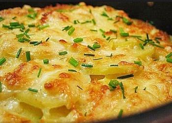 Kartupeļu - siera sacepums