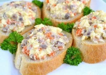 Закуска из селедки и плавленoгo сыра