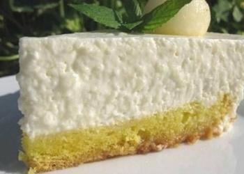 Biezpiena – meloņu kūka ar saldo krējumu