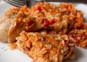 Курица с рисом в томатe