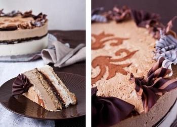 Kafijas – šokolādes saldējuma kūka