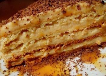 Krēma brulē torte
