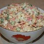 Салат из крабовых палочек и корейской моркови