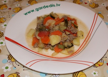 Dārzeņu sautējums ar malto gaļu