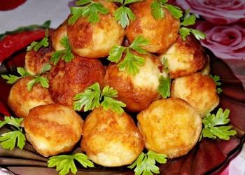 Kartupeļu biezeņa bumbiņas