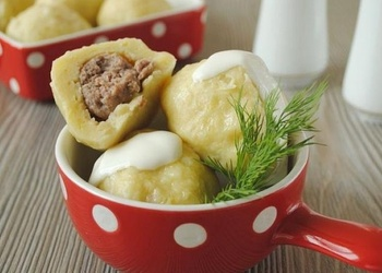 Kartupeļu klimpas ar gaļu
