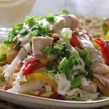 Vistas filejas salāti ar avokado un papriku