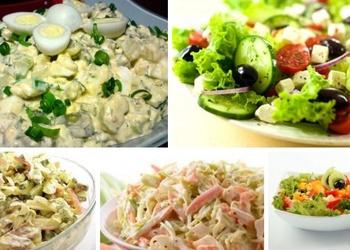 Piecas viegli pagatavojamas salātu receptes