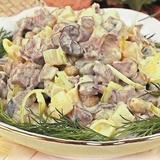 Kartupeļu un sēņu salāti