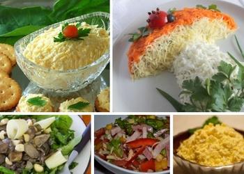 5 salātu receptes svētku galdam