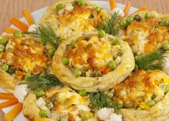 Kartupeļu plāceņi ar vistu