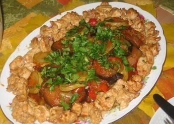Vistas gaļa ar dārzeņiem