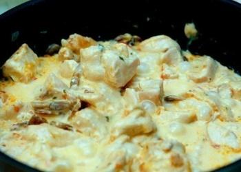 Vistas fileja siera mērcē