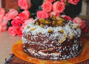 Kefīra kūka ar biezpiena krēmu