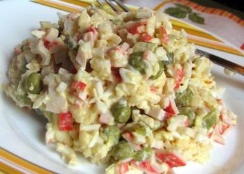 Krabju nūjiņu, ābolu salāti